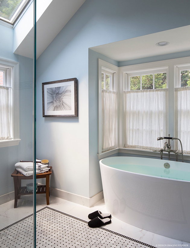 POwder Blue Modern Bath